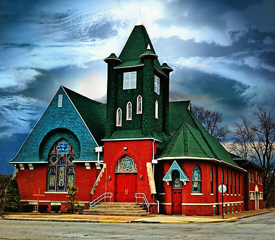Newton Church 2 by Sheryl Gerhard