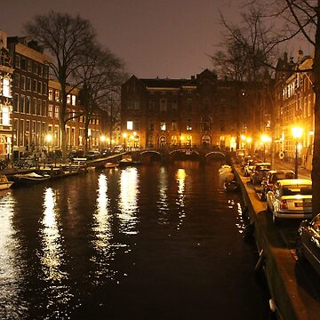 The Amsterdam Canals at Night by adamredshaw