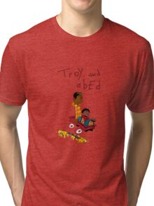 Troy and Abed ride together Tri-blend T-Shirt