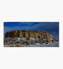 Snow Topped Desert Photographic Print