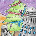 Dalek xmas card no. II by debzandbex