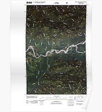 USGS Topo Map Washington State WA Spruce Mountain 20110506 TM Poster