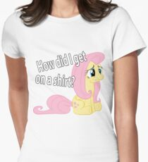Fluttershy out of place Women's Fitted T-Shirt