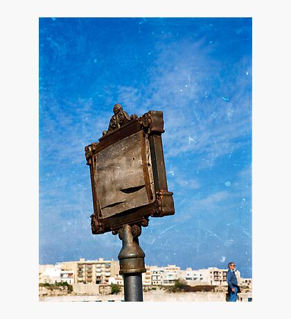 Old Sign Post in Ostranto Photographic Print
