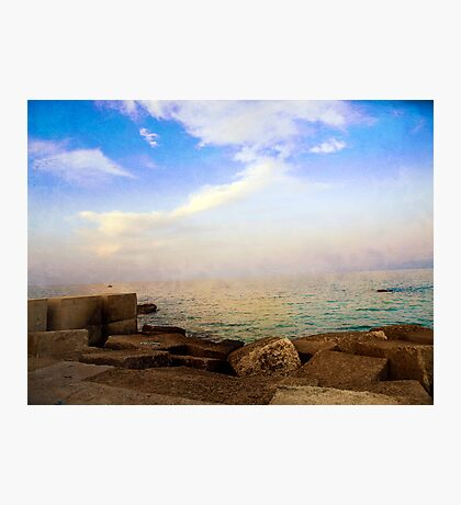 On the Waterfront in Otranto #1 Photographic Print