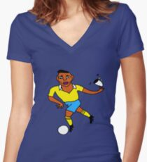 Is it the ball... or the saucer for the cup? Women's Fitted V-Neck T-Shirt