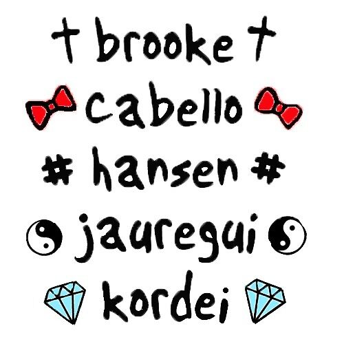 Fifth Harmony Last Names And Symbols By Another Fangirl Redbubble