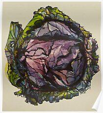 Purple cabbage. Elizabeth Moore Golding 2012Ⓒ Poster