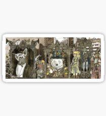 Steampunk City Sticker