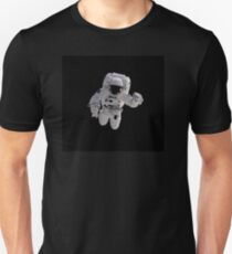 Astronaut on Black Unisex T-Shirt