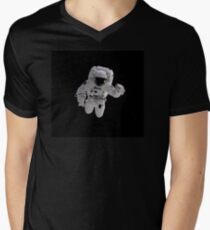Astronaut on Black T-Shirt