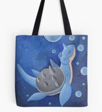 Pokemon Painting - Lapras Tote Bag