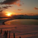 Minn beach in snow by Redbarron