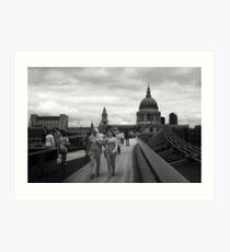 Saint Pauls, Millenium Bridge Art Print