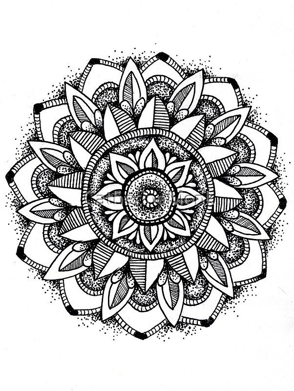 Quot Sunflower Mandala Quot By Catherinemonk Redbubble