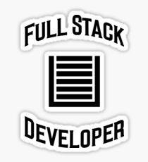 Full Stack Developer - Design for Web Developers Black Font Sticker