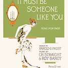 IT MUST BE SOMEONE LIKE YOU (vintage illustration) by ART INSPIRED BY MUSIC