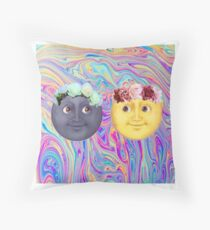 Emoji Moons Throw Pillow
