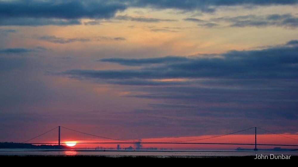 Humber Bridge Sunrise by John Dunbar
