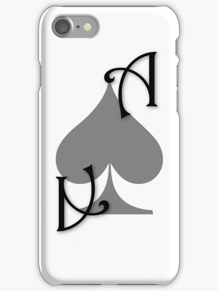 Ace of Spades card - Black by Guilherme Bermêo