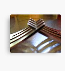 friendly forks..... Canvas Print