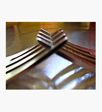 friendly forks..... Photographic Print