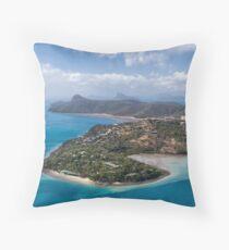 Landing in Tropical Paradise Throw Pillow