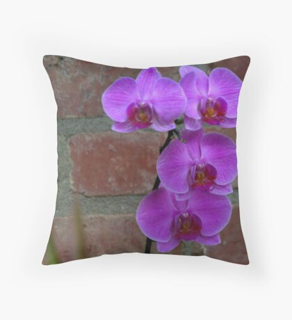 Orchid 03 Throw Pillow