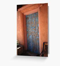Santa Fe - Adobe Building Greeting Card