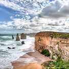 12 Apostles Panoramic Print by Gavin Poh