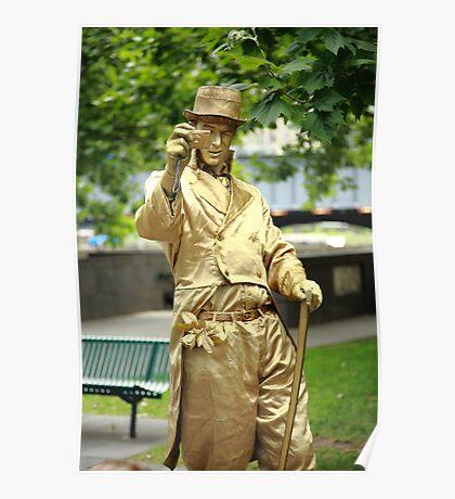 gold man. southbank, melbourne Poster