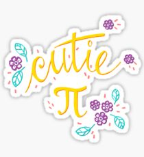 Cutie Pi (Pink) Sticker