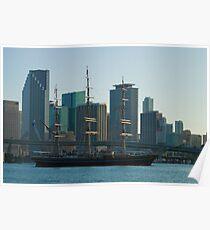 Tall Ship Biscayne Bay Miami Florida Poster