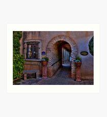 Courtyard Galeries Art Print