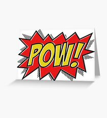 POW Comic Action Greeting Card