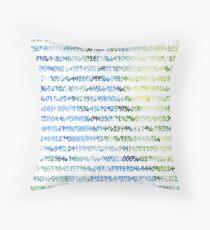 Digits of Pi (Green & Blue) Throw Pillow