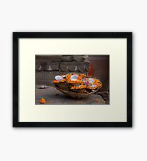 Marigold Floating Candles Framed Print