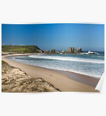 Camel Rock and surf beach Poster