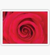 Red Rose Swirls Sticker