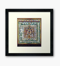 Blue Medicine Buddha Tibetan Art Reproduction Framed Print