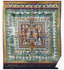 Blue Medicine Buddha Tibetan Art Reproduction Poster