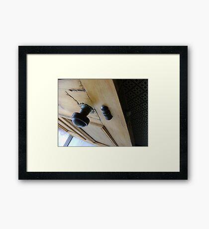 admission granted (old wood door) Framed Print