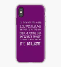 I'll turn him into a flea... in white iPhone Case