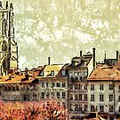 Bourg area in Fribourg (Switzerland) by jntvisual