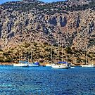 Yachts at Panormitis by Tom Gomez