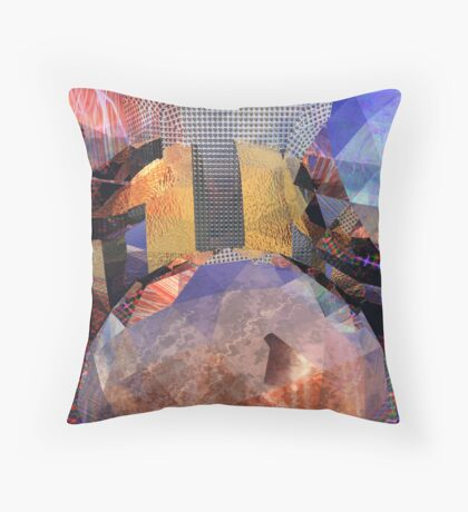 R:X:R // Refraction : Surface : Refraction Throw Pillow