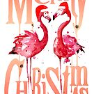 Christmas Flamingos by SamNagel