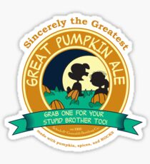 Great Pumpkin Ale Linus and Lucy Sticker