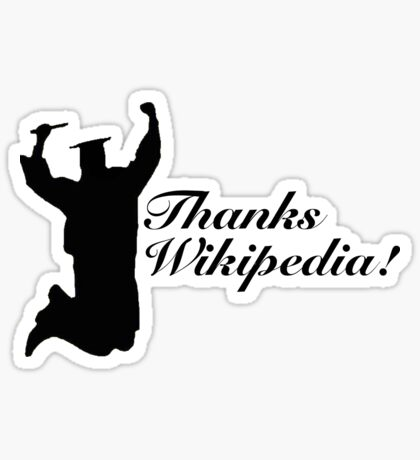 Thanks Wikipedia! Sticker