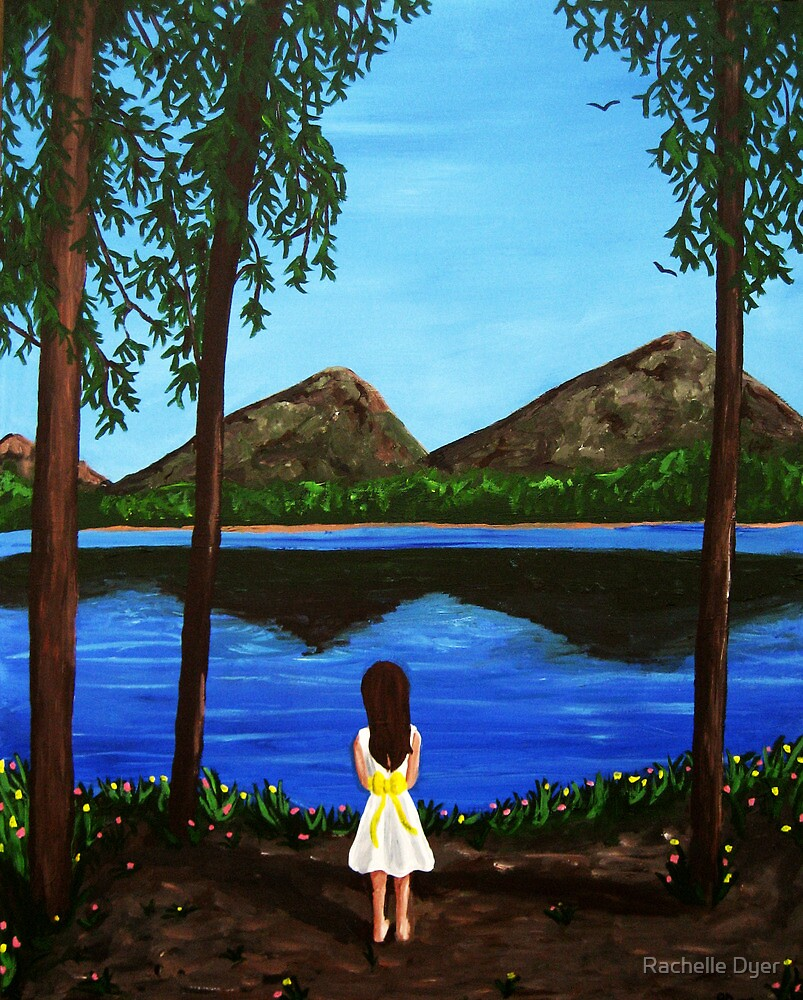 At the Mountain Lake by Rachelle Dyer